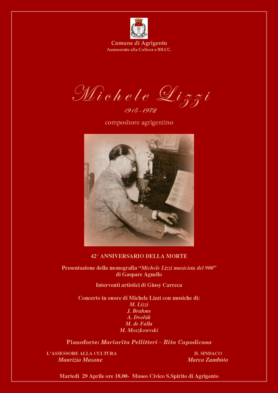 Anniversario Morte di Michele Lizzi: Presentazione Monografia e Concerto