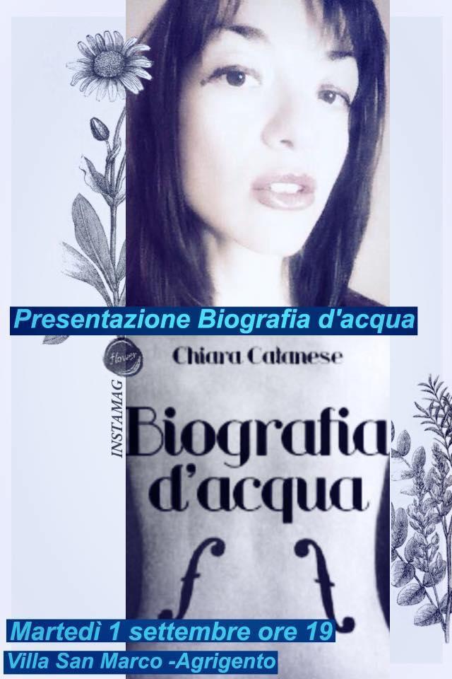 Biografia d'Acqua di Chiara Catanese – Recensione