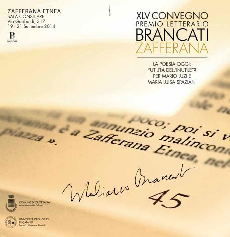 Premio Letterario Brancati Zafferana 2014