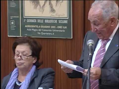 VIDEO della Conferenza Mauro Pesce  e Adriana Destro. Agrigento 2 Dicembre 2011