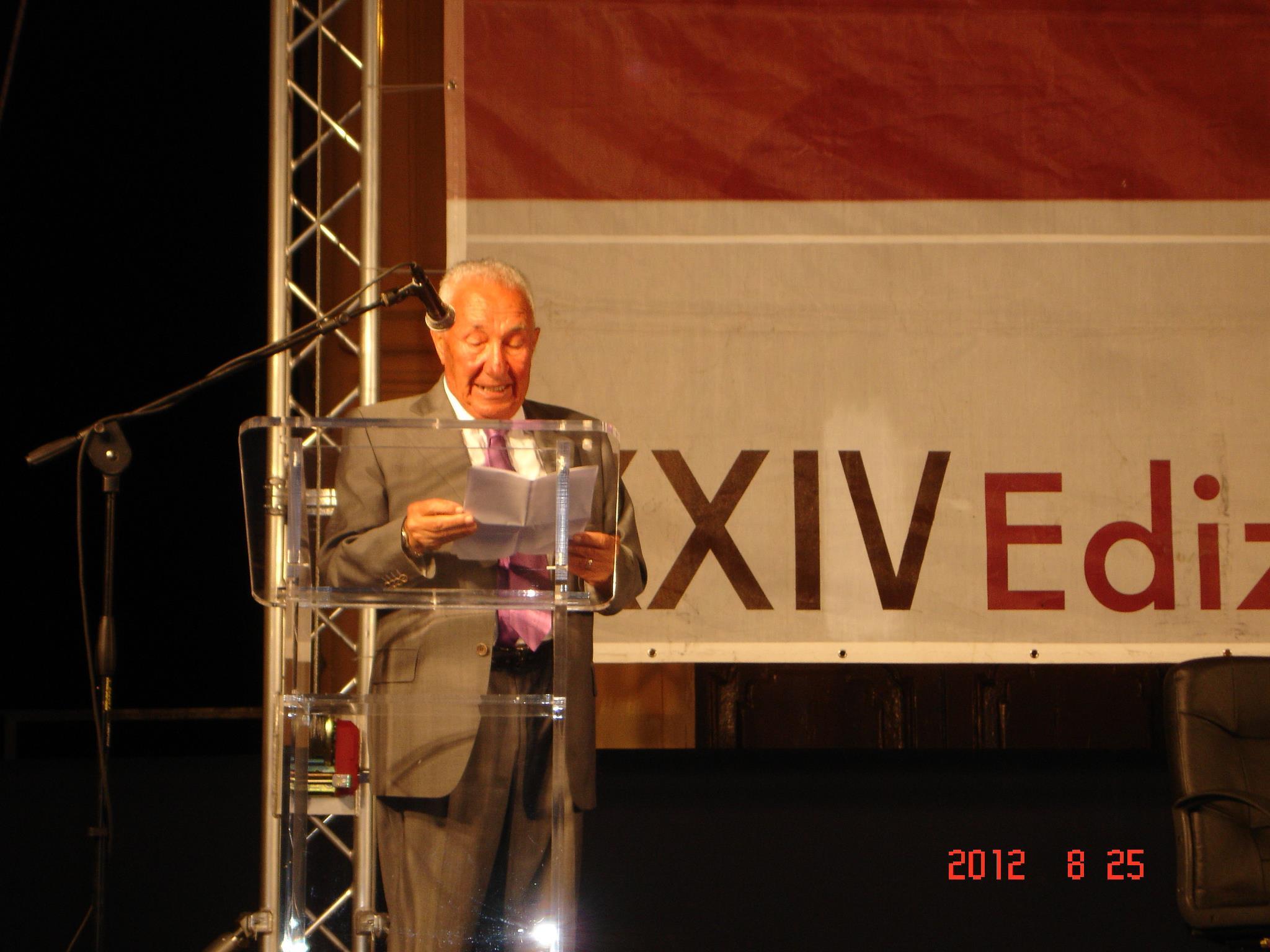 Commemorazione di Vincenzo Consolo al Premio Racalmare 2012